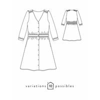 Patron robe Harmonie (34-48)