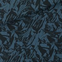 """Sweat léger """"French Terry"""" imprimé Mountains coloris bleu orion 20 x 150 cm"""