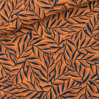Viscose Leaves coloris jaune daim 20 x 140 cm