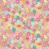Viscose Flowers all around 20 x 138 cm