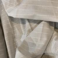 Voile de coton rayé lurex 20 x 150 cm
