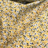 Liberty popeline Peach Blossom jaune et gris coloris C 20 x 145 cm