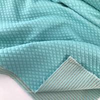 Jersey mini matelassé menthe et lurex or 20 x 140 cm