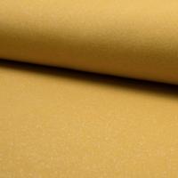 Molleton à paillettes moutarde et argent 20 x 140 cm