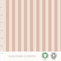 Jersey Rayures verticales Dusty Pink et Crème 20 x 160 cm