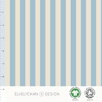 Jersey Rayures verticales Sky Blue et Crème 20 x 160 cm