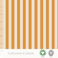 Jersey Rayures verticales Orange et Crème 20 x 160 cm