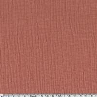 Tissu double gaze de coton coloris marsala/blush 20 x 135 cm