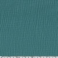 Tissu double gaze de coton coloris eucalyptus 20 x 135 cm