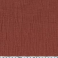 Tissu double gaze de coton coloris tomette 20 x 135 cm