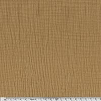 Tissu double gaze de coton coloris camel 20 x 135 cm