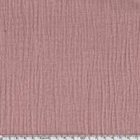 Tissu double gaze de coton coloris rose thé 20 x 135 cm