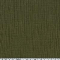 Tissu double gaze de coton coloris bronze 20 x 135 cm