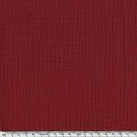 Tissu double gaze de coton coloris grenat 20 x 135 cm