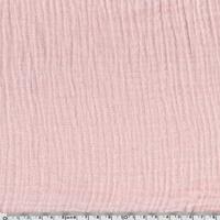 Tissu double gaze de coton coloris blush 20 x 135 cm