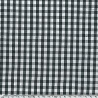 COUPON de tissu vichy coloris réglisse (noir) 35 x 140 cm