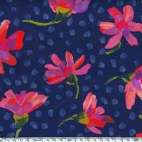 Liberty Sun Daisy rose et violet coloris B 20 x 137 cm