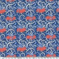 Liberty Ylang Ylang bleu et corail coloris B 20 x 137 cm