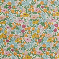 Liberty Poppy Forest orange et bleu coloris A 20 x 137 cm