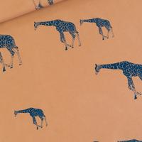 "Sweat léger ""French Terry"" imprimé Girafe coloris brun cathay 20 x 150 cm"