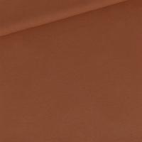 """Sweat léger """"French Terry"""" uni coloris caramel café 20 x 150 cm"""