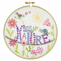 Kit à broder Vive la nature !
