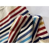 Panneau jersey fin 21 cm crème / 35 cm rayé automne x 180 cm de large soit 56 x 180 cm