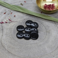 Bouton Classic Shine - Black - Diamètre : 12 mm