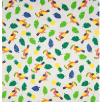 Jersey à paillettes perroquet 20 x 140 cm