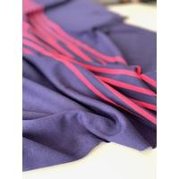 Panneau jersey 19 cm uni marine / 24 cm rayé marine corail / 15 cm uni marine x 130 cm de large soit 58 x 130 cm