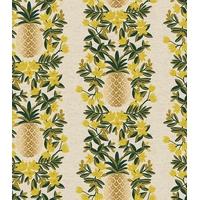 Tissu lin/coton Primavera ananas 20 x 110 cm