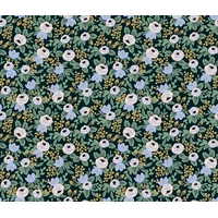 Tissu Rifle Paper Primavera petites fleurs fond foncé 20 x 110 cm