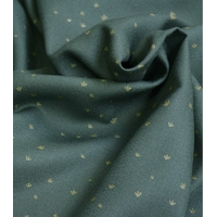 Crêpe de viscose Golden Smoke green 20 x 138 cm