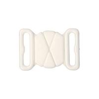 Attache blanche pour maillot de bain 15 mm