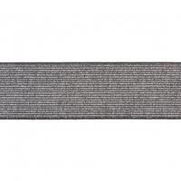 Elastique lurex argent/noir 40mm x 10cm