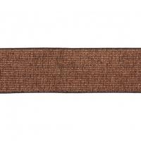 Elastique lurex cuivre/noir 40mm x 10cm