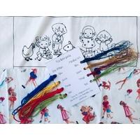 """Kit """"Rainbow party"""" : 8 coloris de fils à broder"""