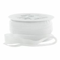 Biais élastique 19mm blanc x 10cm