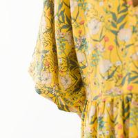Viscose Summer flowers coloris York yellow 20 x 140 cm