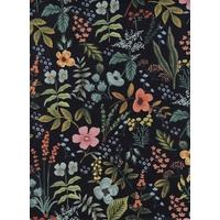 Tissu lin/coton Herb Garden Dark 20 x 110 cm