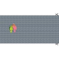 Panneau de jersey à paillettes Perruches 65 x 140 cm