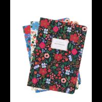 Set de 3 cahiers Wild Rose avec couverture en tissu