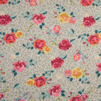 Jersey roses fond sable 20 x 140 cm