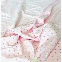 COUPON de Jersey mini pissenlit fond rose  1m60 x 140 cm