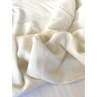 Tissu lin et viscose coloris crème 20 x 130 cm