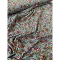 Jersey Modal Aubépine fond lichen 20 x 140 cm