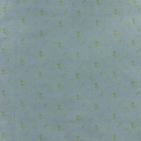 Double gaze France Duval Stalla vert de gris fleurs dorées 20 x 140 cm