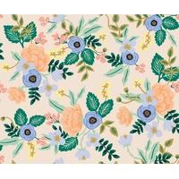 Tissu Rifle Paper Primavera fleurs fond beige 20 x 110 cm