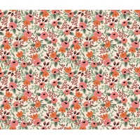 Tissu Rifle Paper Primavera petites fleurs roses fond clair 20 x 110 cm