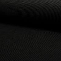 Velours Velutto côtelé noir 20 x 140 cm